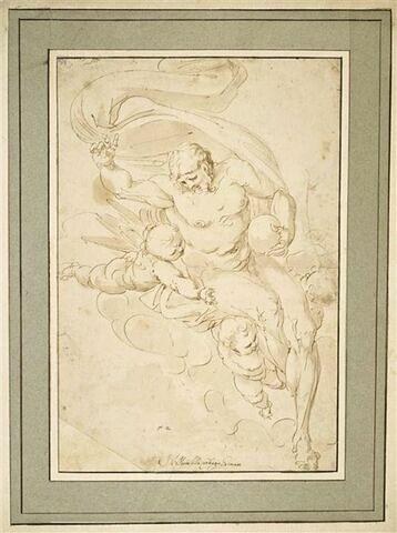 Jésus-Christ porté par des anges
