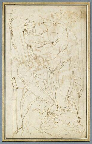 Saint Marc assis, lisant