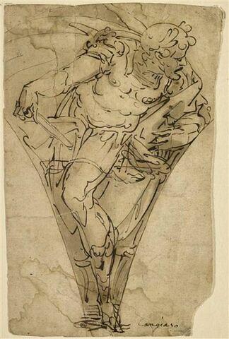 Général romain lauré, étude pour un pendentif