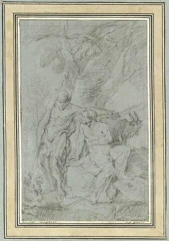 Mercure et Argus discutant sous un chêne