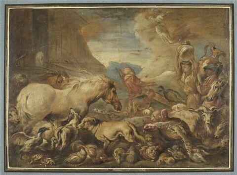 Noé faisant entrer les animaux dans l'arche