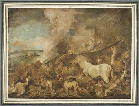 Groupes d'animaux de diverses espèces : l'Arche de Noé
