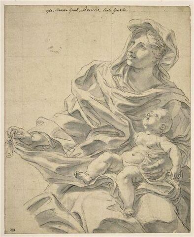 La Vierge assise tenant le petit saint Jean sur les genoux