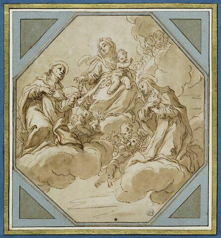 La Vierge à l'Enfant entourée de saint Dominique et de sainte Catherine