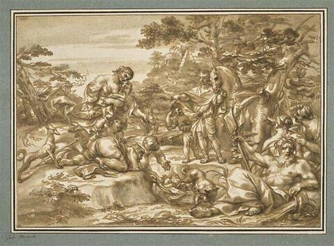 Romulus et Rémus trouvés sur le bord du Tibre
