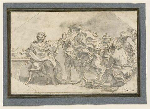 Marcus Curtius Dentatus refuse les cadeaux des ambassadeurs samnites