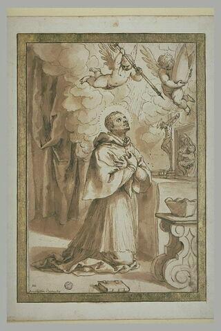 Saint Charles Borromée à genoux, priant