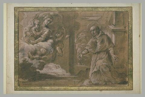 Apparition de la Vierge et de l'Enfant à un saint pape