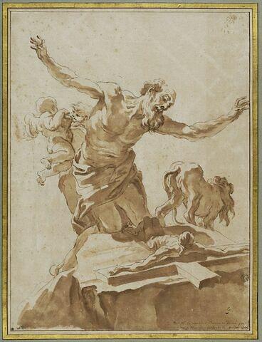 Saint Jérôme à genoux devant un crucifix