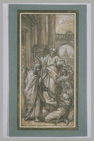 Saint Pierre et saint Jean guérissant les malades à la porte du Temple