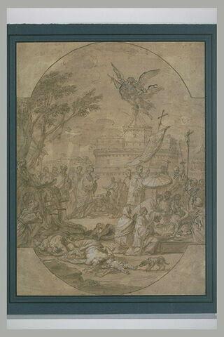 Saint Grégoire portant la communion aux pestiférés