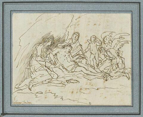 Jésus mort pleuré par les Saintes Femmes et par les anges