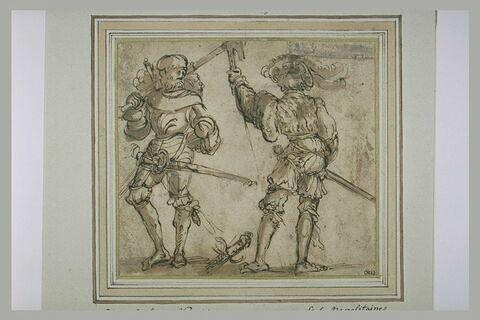 Deux guerriers debout