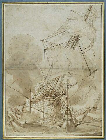 Affrontement d'un galion turc et de galères de l'Ordre de Saint Etienne