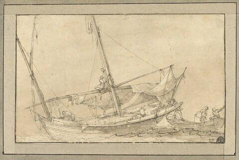Deux barques en mer