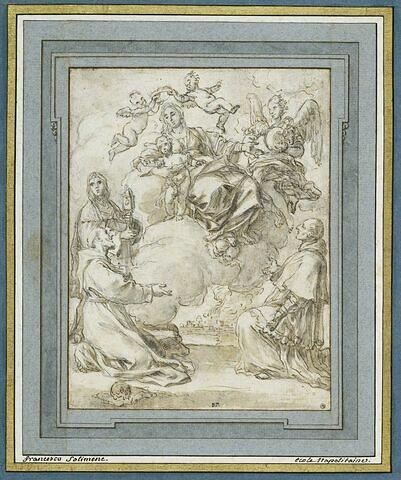 Apparition de la Vierge à l'Enfant à des saints