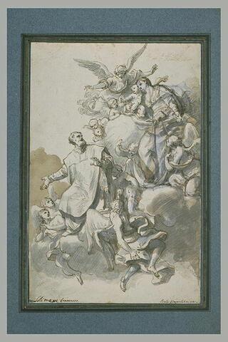 Saint Philippe de Néri devant la Vierge
