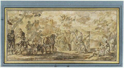 Miracles de saint Maur pendant son voyage en France