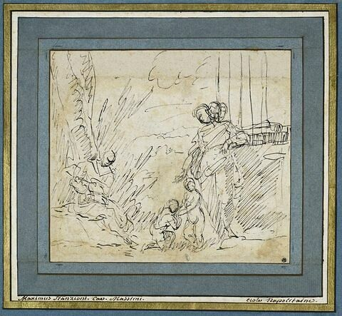 La Vierge, sainte Elisabeth, l'Enfant et le petit saint Jean jouant
