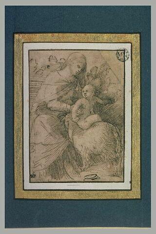 La Vierge à l'Enfant et un agneau