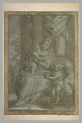 Sainte Famille et le petit saint Jean, avec l'Agneau à ses pieds