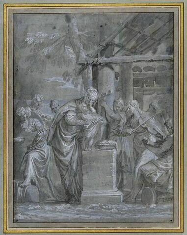 La Vierge et l'Enfant avec six anges musiciens