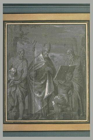 Saint Antoine et un page agenouillé entre saint André et saint Jean-Baptiste