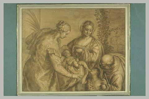 Sainte Famille avec sainte Barbe et le petit saint Jean