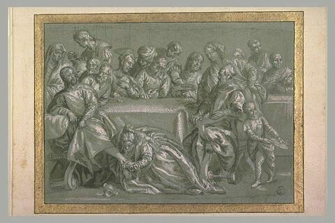 La pécheresse aux pieds du Christ dans le repas chez Simon