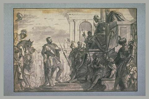 Saint Sébastien devant Dioclétien