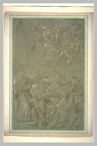 La Vierge apparaissant aux saints Antoine Abbot, Paul ermite, Pierre et Paul