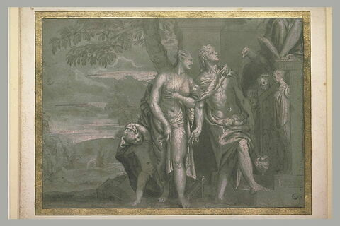 Antéros derrière Vénus et Mercure tenant Eros devant Jupiter