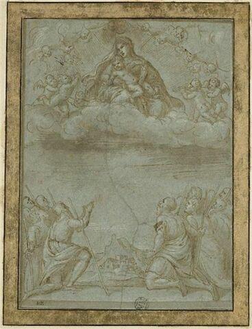 La Vierge et l'Enfant apparaissant à des bergers
