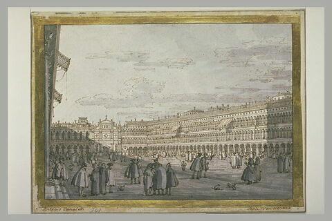 Vue de la place Saint-Marc, à Venise
