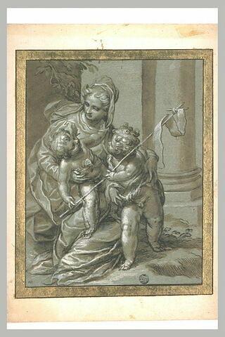 La Vierge, l'Enfant et le petit saint Jean