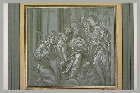 La Vierge et l'Enfant entre saint François d'Assise et saint Jean-Baptiste