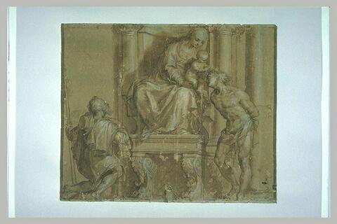 La Vierge à l'Enfant en trône avec saint Roch et saint Sébastien