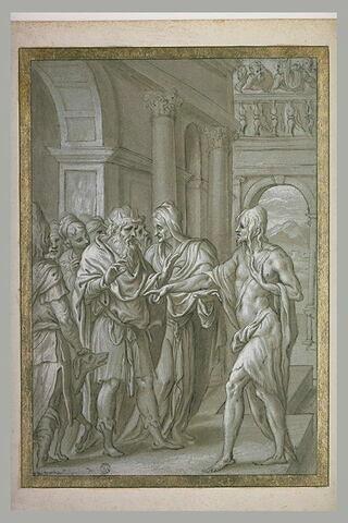 Saint Jean-Baptiste reprochant à Hérode les crimes qu'il a commis