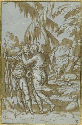 Vénus et Adonis enlacés