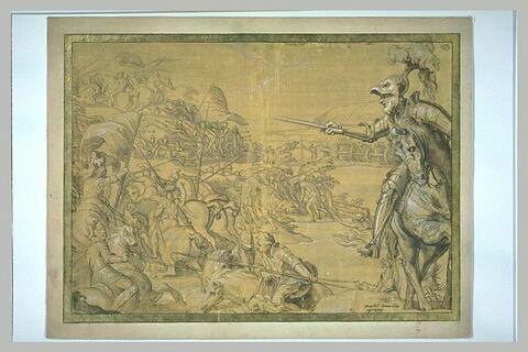 Bataille entre les Français et les Italiens avec François de Gonzague