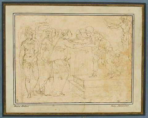 Hélène reçue par le roi Priam ?