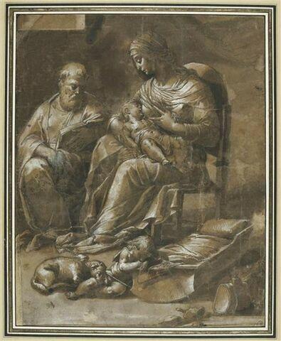 Sainte Famille avec saint Jean-Baptiste