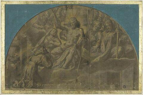 Saint François présenté au Christ par la Vierge