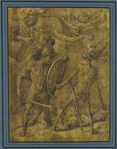 La Mort transperce un guerrier de sa lance