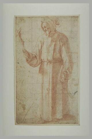 Saint François tenant un crucifix,