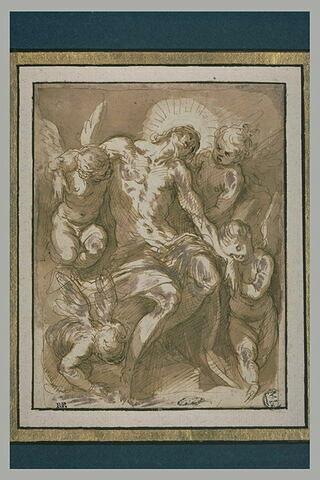Le Christ mort soutenu par des anges