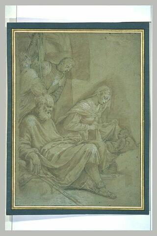 La Sainte Famille avec deux figures