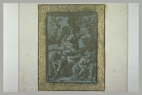 Un ange présente à Jésus un calice dans le Jardin des oliviers