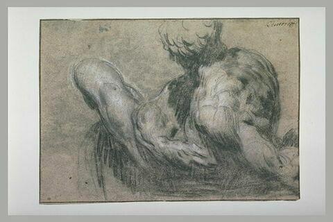 Etude d'après un moulage de la sculpture de Michel-Ange dite 'le Jour'