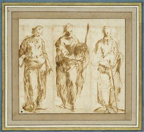 Trois apôtres debout